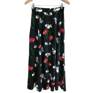 Vintage Floral Button Down Maxi Skirt Medium